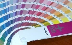 image of a Pantone Book used by professional graphic design firms for color selection