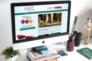 boston flower show responsive website