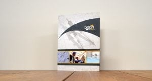 design to finish brochure cover