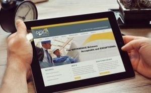 design to finish responsive website design tablet view
