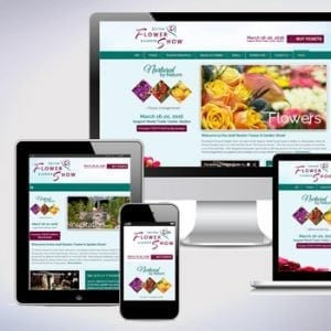 Boston Flower show responsive-devices