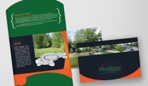 Image of direct mail brochure design creatd by based graphic design firm