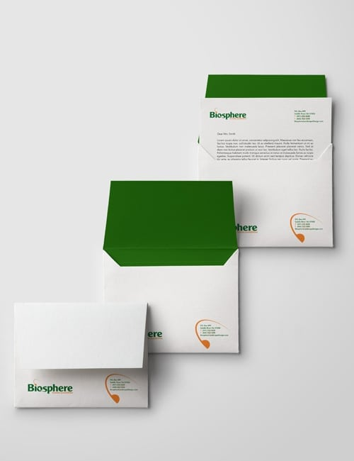 Envelopes, business cards and letterhead design