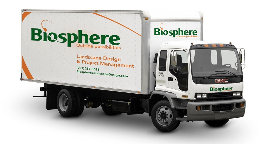 image of box truck with nice graphic design and lettering