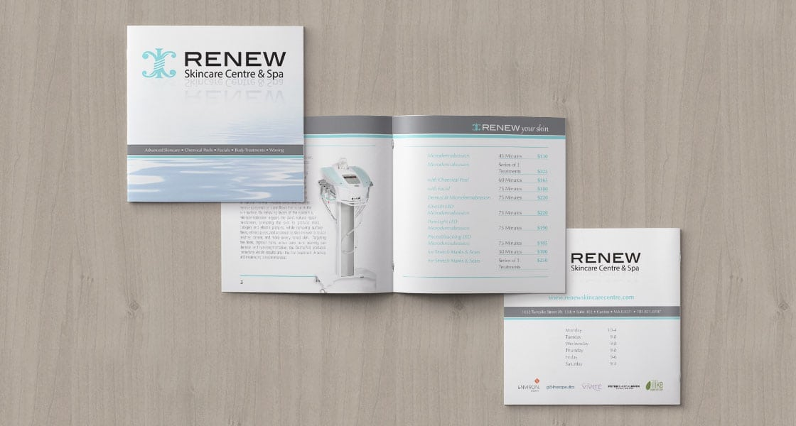 Renew Skincare Booklet of Services