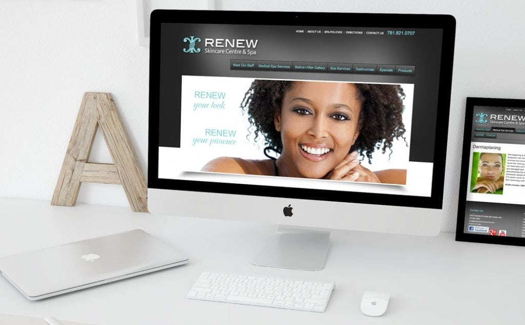 Renew Skincare Website Design