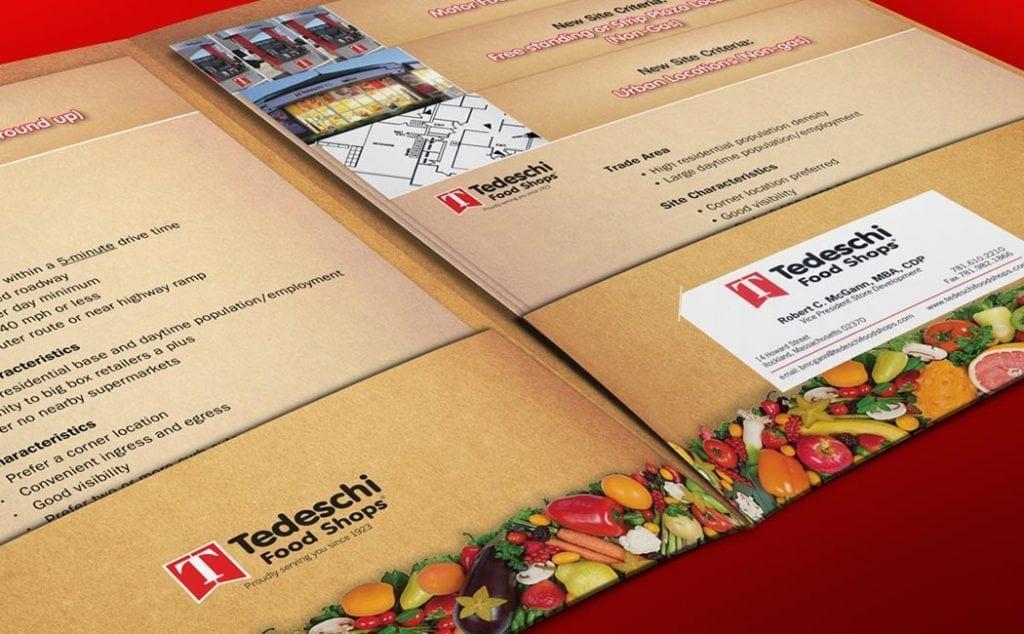 Tedeschi Food Shops Pocket Folder