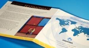 Saratoga square trifold brochure