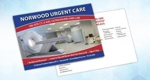 norwood urgent card direct mail postcard