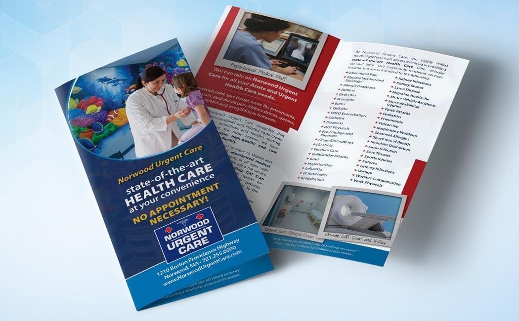 norwood urgent care bifold brochure