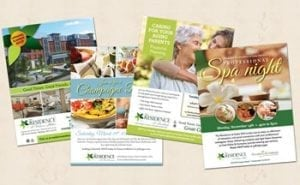 Senior living marketing collateral