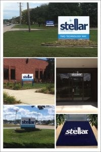 Custom building signage for Stellar Building Technologies