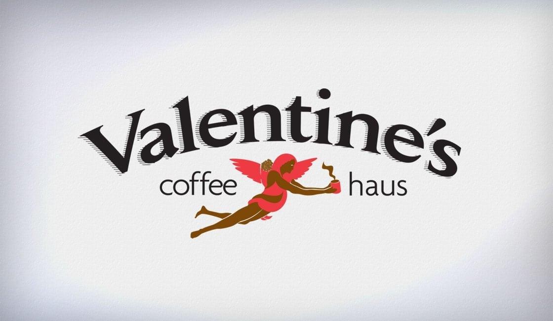 Valentines Coffee Logo Design