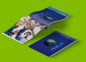 Graphic design corporate brochure example