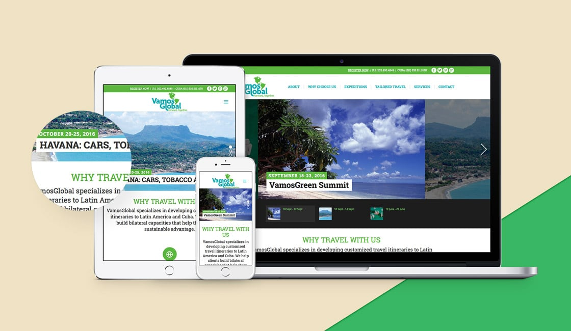 vamos global responsive website design