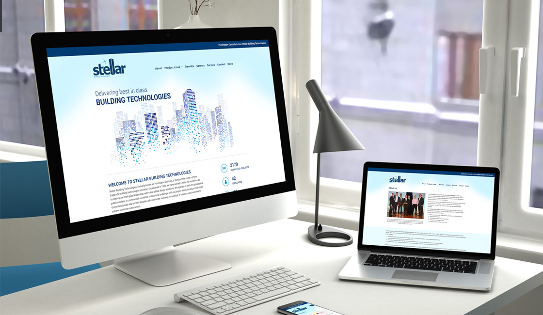 Responsive website design for building technology firm